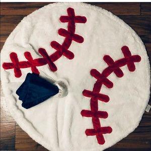 Baseball Blanket & Security Blanket Set NWT